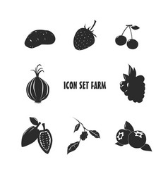 Icon set farm vector