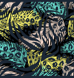 leo zebra animal print vector image