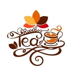 Lettering - rooibos tea vector