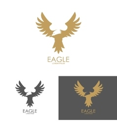 Logo template with eagle silhouette vector
