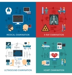 Medical Examination 4 Flat Icons Square vector image
