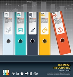 Modern business ring binders steps to success vector image vector image