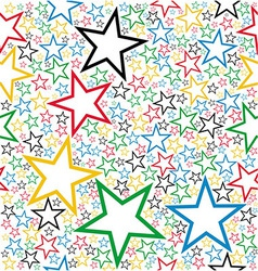 Multicolored stars seamless pattern vector image vector image