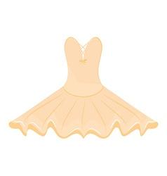 Orange ballet dress vector image