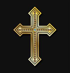 Orthodox christian cross vector