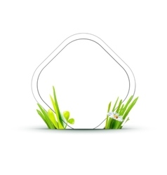paper tag with grass vector image vector image