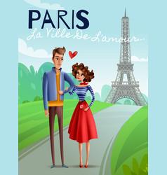 Paris cartoon vector