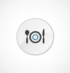 restaurant icon 2 colored vector image vector image