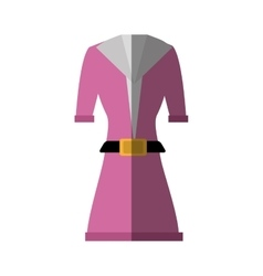 Suit elegant female icon vector