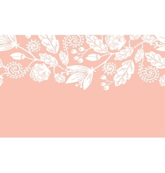 Wedding flowers and leaves horizontal seamless vector