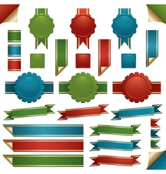 Ribbons and emblems vector