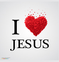 i love jesus heart sign vector image
