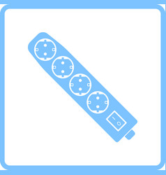 Electric extension icon vector