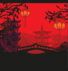 mid-autumn festival for chinese new year card vector image