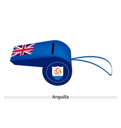 A beautiful blue whistle of anguilla flag vector