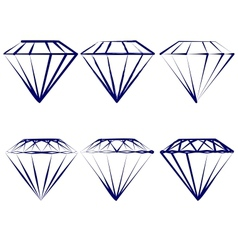 Diamond symbols set vector