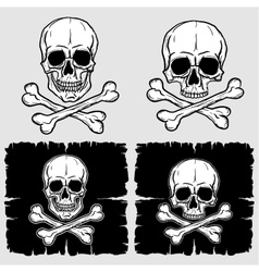 Set of skull and crossbones vector