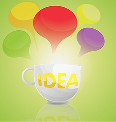 Idea business cup cartoon vector