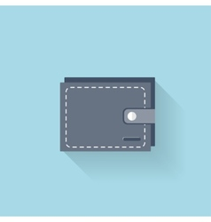 Flat web icon wallet vector