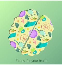 Artistic brain design vector