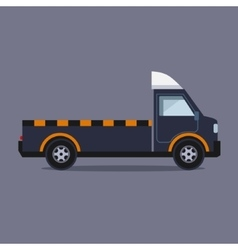 Truck for transportation faulty and emergency cars vector