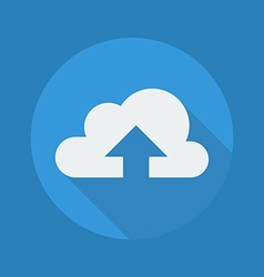 Cloud Computing Flat Icon Upload vector image