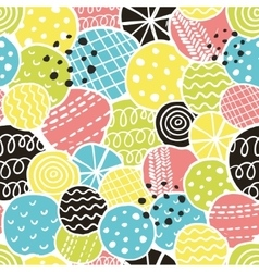 Cute seamless pattern with decorative rounds vector