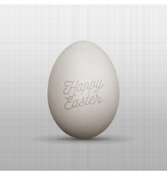 Realistic easter chicken egg with text vector
