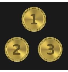 Golden award labels vector
