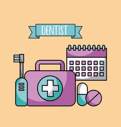 accessories dentist job vector image