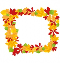 autumn leaves frame vector image vector image