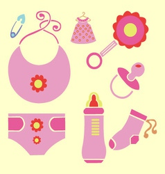 Baby new shower 3 vector