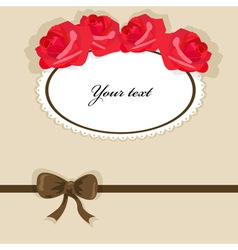 background with roses 3 vector image