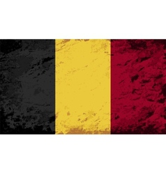 Belgian flag grunge background vector