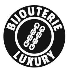 Bijouterie luxury logo simple black style vector