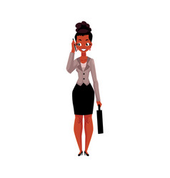 black african american businesswoman with vector image vector image