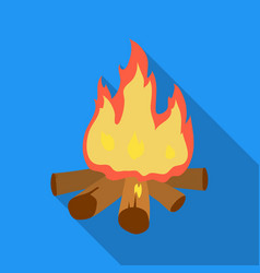 Campfire of stone age icon in flate style isolated vector