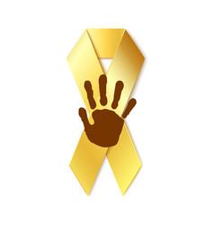 Childhood cancer golden ribbon vector