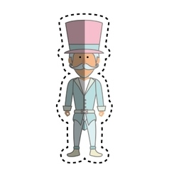 Circus ceremony master icon vector