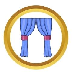 Curtains icon cartoon style vector