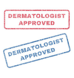 Dermatologist approved textile stamps vector