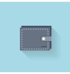 Flat web icon Wallet vector image vector image