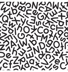 Hand Drawn Mix Letters Seamless Pattern vector image