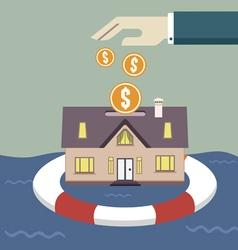 Home insurance concept vector