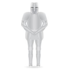 knight armor 01 vector image vector image
