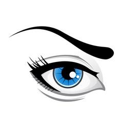 lady eye vector image vector image