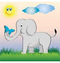 Little elephant vector