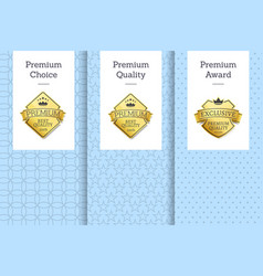 Premium choice quality award vector
