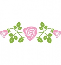 rose design vector image vector image