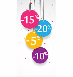 sale discount tags vector image vector image